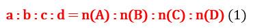 Відношення кількостей речовин у рівняння реакцій